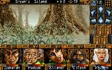 Ishar 2: Messengers of Doom DOS With a full party, you're not afraid to venture into the forest...
