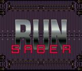 Run Saber SNES Title screen