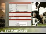 FIFA Manager 06 Windows Setting up the manager options.