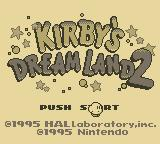 Kirby's Dream Land 2 Game Boy Title Screen