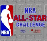 NBA All-Star Challenge Genesis Title screen