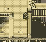 Batman: The Animated Series Game Boy Scale walls with the bat-jump