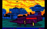 Fugitif: Les Aventures de Jack Bludfield - Part 1 Amstrad CPC At the New York spaceport