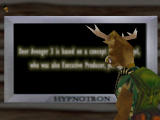 Deer Avenger 3D Windows A widescreen TV showing you the credits