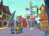 Cyberchase: Castleblanca Quest Windows In the town square