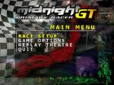 Midnight GT: Primary Racer Windows The main menu