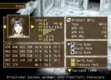 Suikoden V PlayStation 2 Character status screen