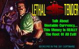 Lethal Tender DOS Title screen