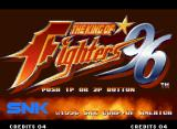 The King of Fighters '96 Neo Geo Title screen.