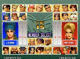 The King of Fighters '96 Neo Geo Character selection.