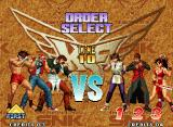 The King of Fighters '96 Neo Geo Setting the battle order.