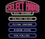 "Barker Bill's Trick Shooting NES Select a game mode or play all the modes in sequence choosing ""Fun Follies"""