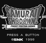 Samurai Shodown Neo Geo Pocket Title screen.