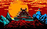Karateka Amstrad CPC Castle Overview