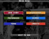 Eat the Whistle Amiga Main menu