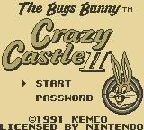 The Bugs Bunny Crazy Castle 2 Game Boy Title Screen