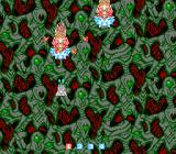 ImageFight NES This level looks... creepy. Evil plants are shooting little red things at me