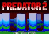 Predator 2 Genesis Title screen with rotating shapes