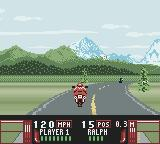 Road Rash Game Boy Color Race 1 - Alaska