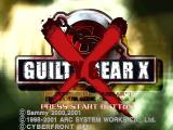 Guilty Gear X Windows Title screen