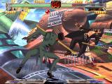 Guilty Gear X Windows The blood is colored green (can be seen on the right)