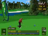 PGA Tour Golf 486 DOS Straight on to the course