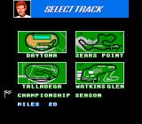Bill Elliott's NASCAR Challenge NES Select an official NASCAR track single race or try a Championship Season