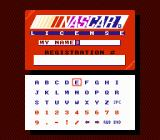 Bill Elliott's NASCAR Challenge NES Driver's license using your own name