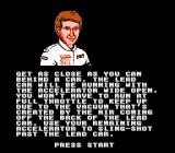 Bill Elliott's NASCAR Challenge NES Bill Elliott help you with good tips in Practice Mode