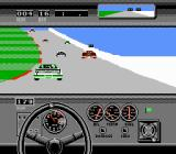 Bill Elliott's NASCAR Challenge NES Left turn on 31 degree banking in Daytona track