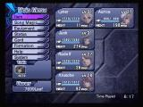 Ar tonelico: Melody of Elemia PlayStation 2 One of the in game menus