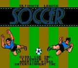 Ultimate League Soccer NES Title screen.
