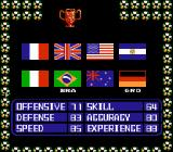 Ultimate League Soccer NES Selecting teams: Germany has the best team statistics. This game is from 1991, right after the Italy world cup, won by the Germans, so...