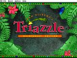 Living Puzzles: Triazzle Windows 3.x Title screen
