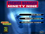 Premier Manager Ninety Nine Windows Title screen