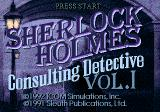 Sherlock Holmes: Consulting Detective SEGA CD Title screen