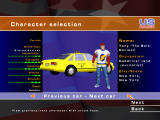 US Racer Windows Character and vehicle selection screen