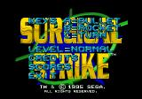 Surgical Strike SEGA CD Options screen