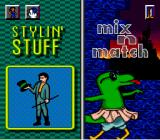 "Fun 'N Games SNES Selecting between ""mix 'n match"" and ""Stylin' Stuff"""