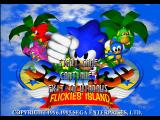 Sonic 3D Blast Windows Title screen