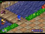 Sonic 3D Blast Windows This bridge is protected by a mine