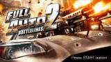 Full Auto 2: Battlelines  PSP Title screen