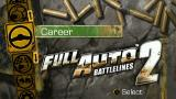Full Auto 2: Battlelines  PSP Main menu