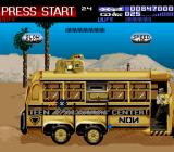 Revolution X SNES Shooting up the NON school bus.