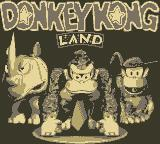 Donkey Kong Land Game Boy Title Screen