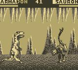 Primal Rage Game Boy Sauron vs. Armadon