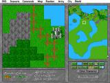 Drawing a map in the editor: pasting generic terrain tiles...