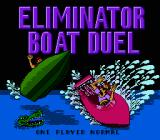 Eliminator Boat Duel NES Title screen