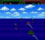Eliminator Boat Duel NES The 3D action segment -- stay within the flags