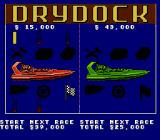 Eliminator Boat Duel NES Drydock -- use your prize money to repair and upgrade your boat